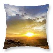 Morning Earth Rotation Throw Pillow