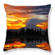 Morning Explosion Throw Pillow