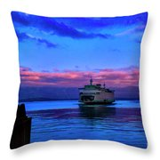 Morning Ferry Throw Pillow