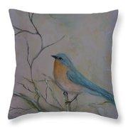 Morning Finch Throw Pillow