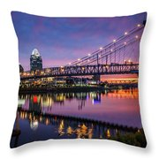 Morning Fire Throw Pillow