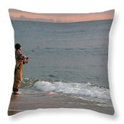 Morning Fish Throw Pillow