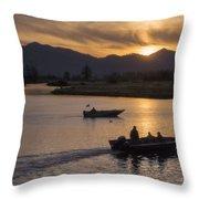 Morning Fishing 4 Throw Pillow