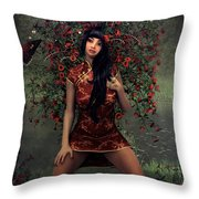 Morning Floral Throw Pillow