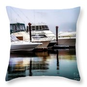 Morning Fog At Boothbay Throw Pillow