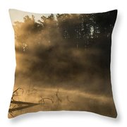 Morning Fog In The Boundary Waters Throw Pillow