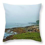 Morning Fog - Maine Throw Pillow