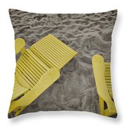 Morning Footsteps Throw Pillow