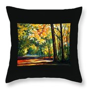 Morning Forest Throw Pillow