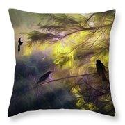 Morning Forest Light Throw Pillow