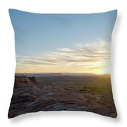 Morning Formations Throw Pillow