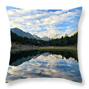 Morning Glory In The Land Of Little Lakes Throw Pillow by Sean Sarsfield