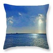 Morning Has Broken Galveston Bay Throw Pillow