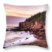 Morning In Acadia Throw Pillow