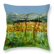 Morning In Backyard At Barton Throw Pillow