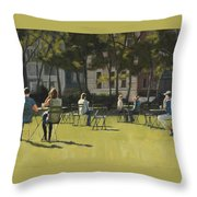 Morning In Bryant Park Two Throw Pillow