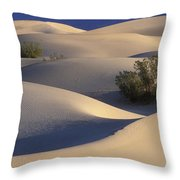 Morning In Death Valley Dunes Throw Pillow