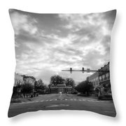 Morning In Murphy North Carolina In Black And White Throw Pillow