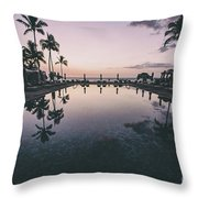 Morning In Paradise Throw Pillow