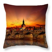 Morning In Prague Throw Pillow