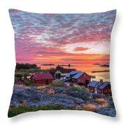 Morning In The Archipelago Sea Throw Pillow
