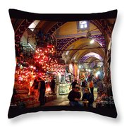 Morning In The Grand Bazaar Throw Pillow