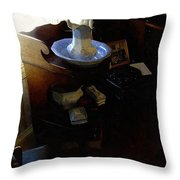 Morning In The Study Throw Pillow
