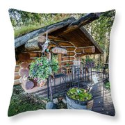 Morning In The Woods Throw Pillow