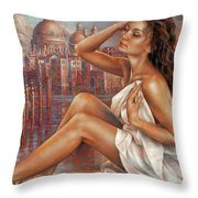 Morning In Venice Throw Pillow
