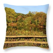 Morning Landscape In The Park Throw Pillow