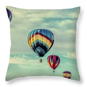 Morning Lift Off  Two Throw Pillow
