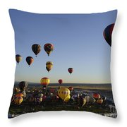 Morning Liftoff Throw Pillow