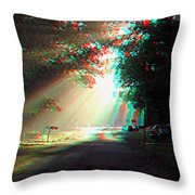 Morning Light - Use Red-cyan 3d Glasses Throw Pillow