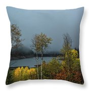 Morning Light And Fog Throw Pillow
