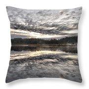 Morning Light At Saari-soljonen 1 Throw Pillow