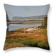 Morning Light At Schoodic  Throw Pillow