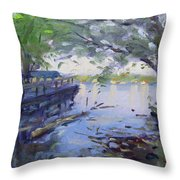 Morning Light By The River Throw Pillow