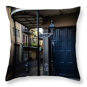 Morning Light In The French Quarter Throw Pillow