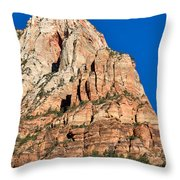 Morning Light In Zion Canyon Throw Pillow