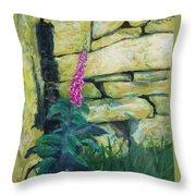Morning Light On A Foxglove Throw Pillow