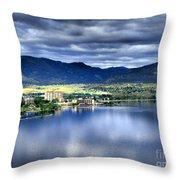 Morning Light On Okanagan Lake Throw Pillow