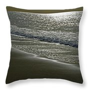 Morning Light On Sandown Beach Throw Pillow