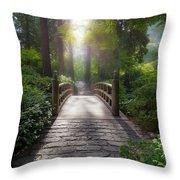 Morning Light On The Bridge Throw Pillow