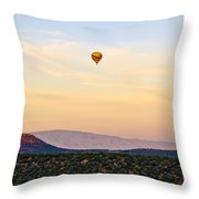 Morning Light With Balloon Throw Pillow