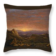 Morning Looking East Over The Hudson Valley From The Catskill Mountains Throw Pillow