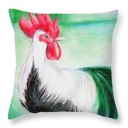 Morning Throw Pillow by Loretta Nash