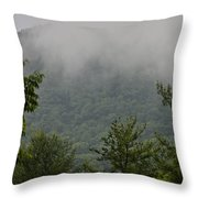 Morning Mist Bluestone State Park West Virginia Throw Pillow