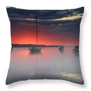 Morning Mist - Florida Sunrise Throw Pillow