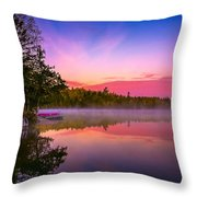 Morning Mist Throw Pillow by Stuart Deacon