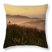 Morning Mist Three Throw Pillow